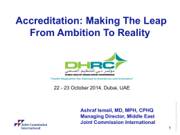 PowerPoint title – 44pt Arial - Dubai Health Regulation Conference