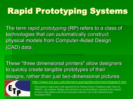 Rapid Prototyping Systems - Engineering Technology Pathways