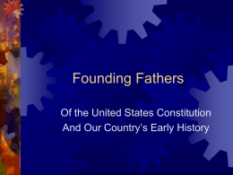 Founding Fathers PPT