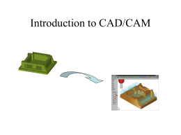 Introduction to CAD/CAM/CIM
