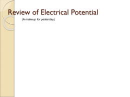 Electrical Potential Presentation
