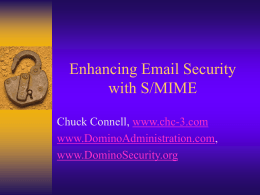 Enhancing Email Security with S/MIME - CHC