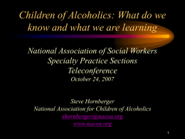 Children of Alcoholics Presentation