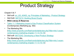 Product Strategy Chapter 11