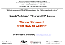 VisionStatement - ALTEC Research
