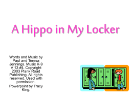 A Hippo in My Locker - Bulletin Boards for the Music Classroom