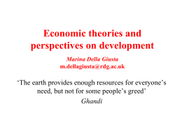 Economic theories and perspectives on development