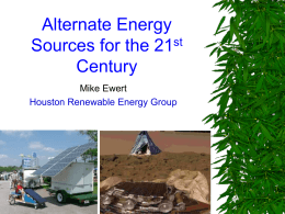Alternative Energy Sources for the 21st Century