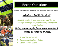 What is a Public Service? - newforestacademypublicservices
