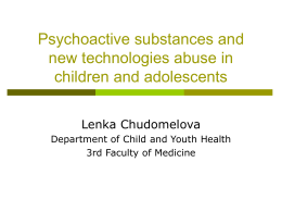 Prevention of drug abuse in children and adolescents
