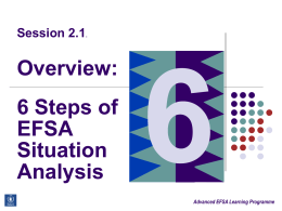 Overview: 6 Steps of EFSA Situation Analysis
