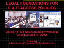 Disability Access to Information Technology