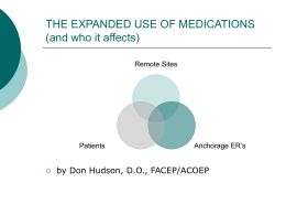 The Expanded Use Medications