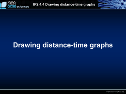 Drawing distance-time graphs IP2.4.4 Drawing distance