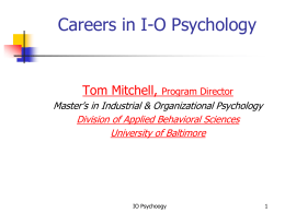 Psychology and OD - University of Baltimore Home Page web services