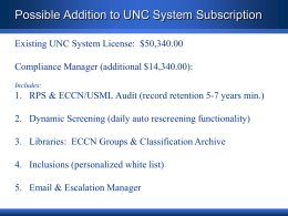 University Of North Carolina System