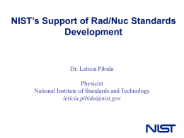 NIST`s Support of Rad/Nuc Standards Development (File