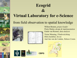EcoGrid and Virtual Laboratory e-Science - National e