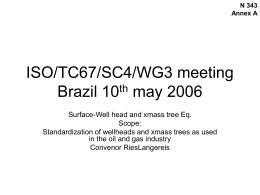 WG 3 ISO Presentation 2006-08-16 - My Committees