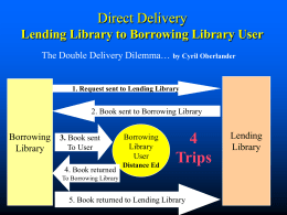 Direct Delivery - Northwest Interlibrary Loan and Resource Sharing