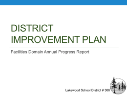 District Improvement Plan - Lakewood School District