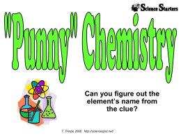 Chem Pun Three - Laurel Public Schools / Overview