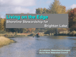 LOE Brighton - Huron River Watershed Council