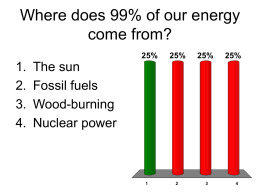 Where does 99% of our energy come from? - sohs