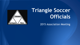 Triangle Soccer Officials - Triangle Soccer Referees