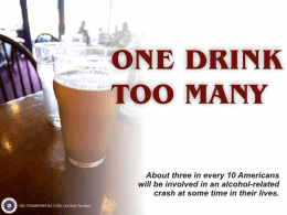 DUI: One Drink Too Many - Employee Wellness Programs