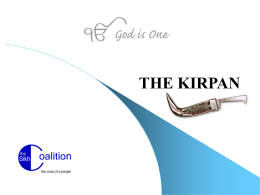 Kirpan - The Sikh Coalition
