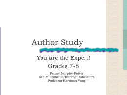 Author Study WebQuest by Penny Murphy-Potter