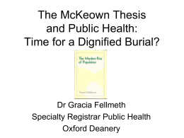 The McKeown Thesis and Public Health