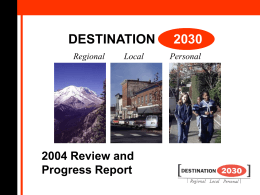 Our Region by 2030 - The Cascadia Center