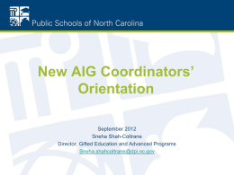Local AIG Plans - NC Academically or Intellectually Gifted Programs