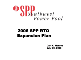 SPP RTO Expansion Plan