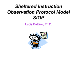 Sheltered Instruction Observation Protocol Model