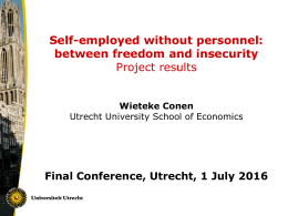 Self-employed without personnel: between freedom and insecurity