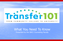 What is a Transfer Student? - Santa Barbara City College