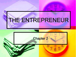 the entrepreneur - Shepherd Webpages