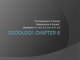 Sociology: Chapter 6-1