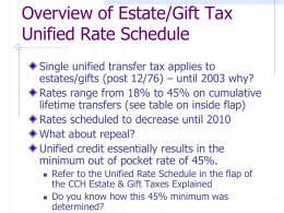 Week 2- Estate Tax Overview