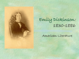 Emily Dickinson - metcalfenglish11