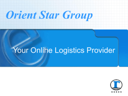 e-Business - Orient Star Transport International, Ltd