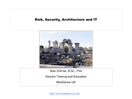 Risk, Security, Architecture and IT