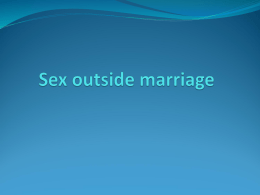 Sex outside marriage