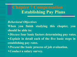 Chapter 11 Establishing Pay Plans