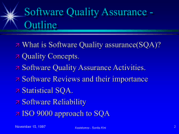 Software Quality Assurance - E-Learning