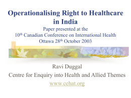 health financing for primary healthcare in rural india