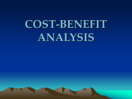 Oregon State...Cost-Benefit Analysis Cost